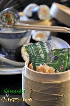 Recette makis au saumon fumé, concombre & carotte avec du wasabi et du gingembre pour le nouvel An Chinois 2013 - Kaderick en Kuizinn©2013