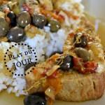 Recette du roti de dinde à la basquaise, poivrons, olives du jardin, tomates confites, du soleil pour un plat du jour Bistrot - Kaderick en Kuizinn©2013