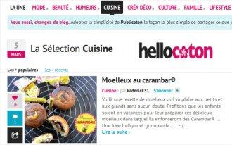 Sélection cuisine Hellocoton moelleux carambar® - Kaderick en Kuizinn©ramb