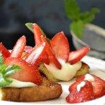 Recette tartines de brioches au mascarpone et fraises bio, un dessert frais