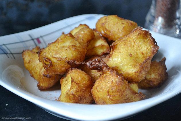 recette des pommes dauphine maison fait avec une purée de pommes de terre et de la pâte à choux - Kaderick en Kuizinn©