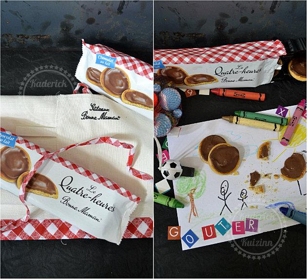 Biscuits chocolat bonne maman en partenariat et en cadeaux un beau tablier