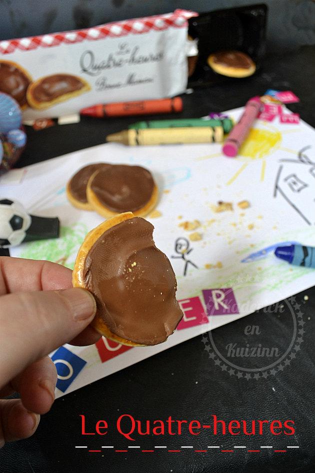Fêtes des Mères avec les biscuits au chocolat authentique bonne maman