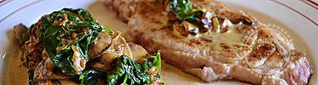 Recette plancha avec un filet de veau à la plancha épinard à la crème de champignons