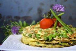 Légumes de printemps en omelette pour le thème de Culino Versions