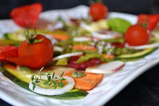 Recette bio tartare légumes de printemps
