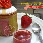 Charlotte de rhubarbes et fraises pour Culino Versions pour le thème de Juin
