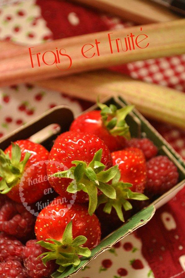 Confiture de fraises, framboises et rhubarbes bio - Recette saine et bio pour une confiture santé