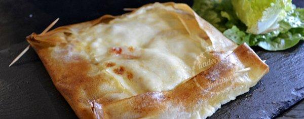 Cuisson brick saumon fumé en tarte carrée - Recette de cuisine pour un plat du jour