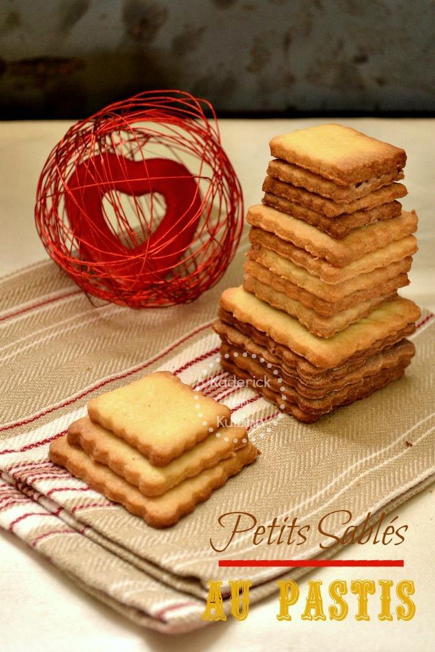 Des petits sablés à l'anis et pastis à grignoter pour un bon goûter ou dessert
