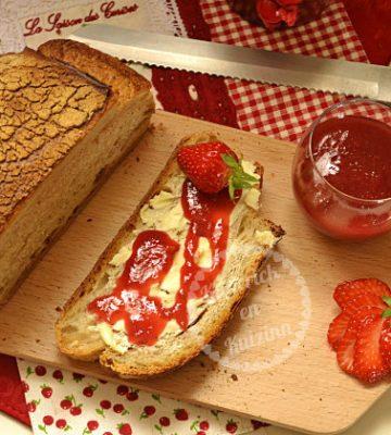 Confiture de fraises, framboises et rhubarbes bio - recette de fruits bio