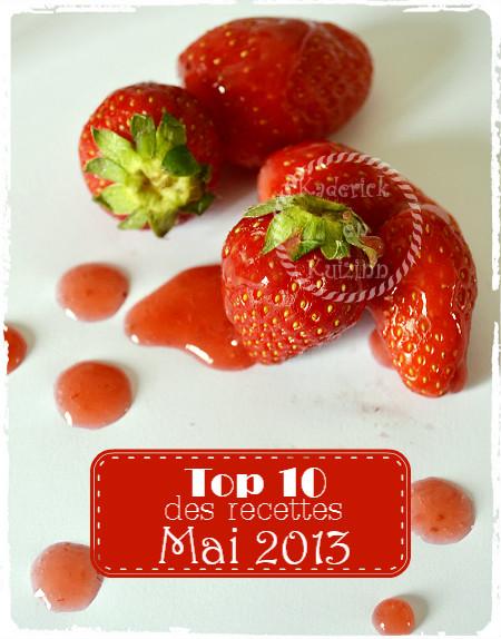 Top 10 des recettes salées et recettes sucrées que vous avez préférez au mois de mai 2013