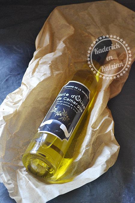 Huile d'olive de Camargue domaine de la vernede en partenariat avec cette marque