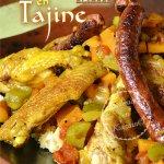 Dégustation d'ailes de poulet aux épices, légumes bio et merguez