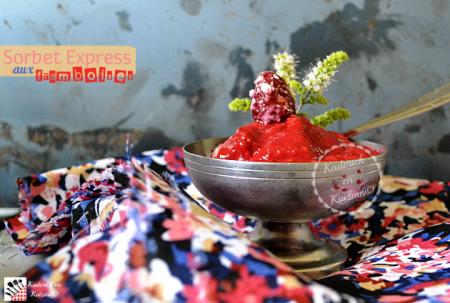 Recette express du sorbet aux framboises sans sorbetière prêt en 1 minute
