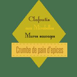 Clafoutis mirabelles et mûres logo