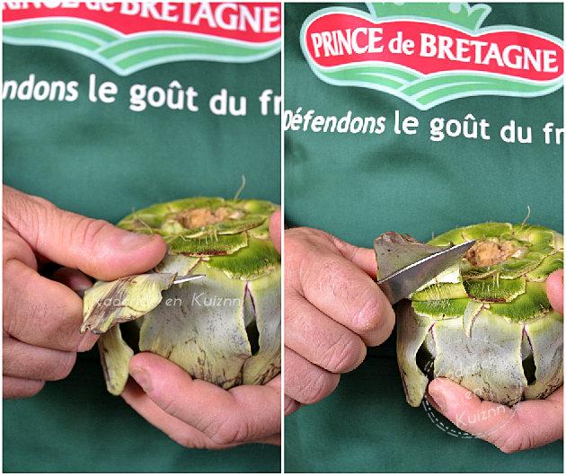 Comment retirer les feuilles d'artichaut camus pour Prince de Bretagne