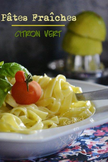 Dégustation des pâtes fraîches au mascarpone et citron vert