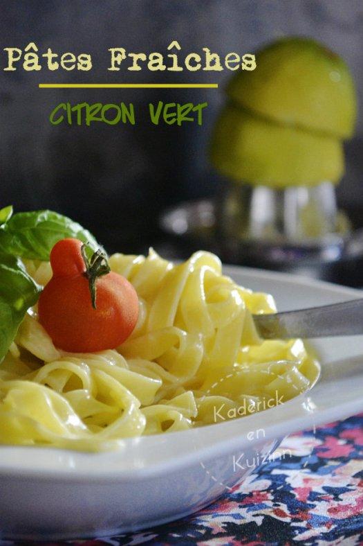 Dégustation des tagliatelles pâtes fraîches au mascarpone et citron vert