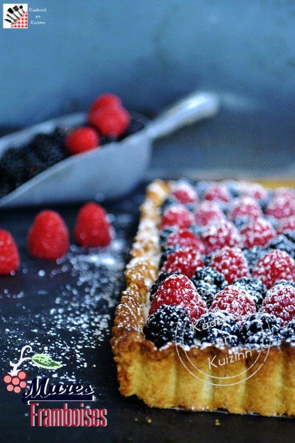 Dégustation recette tarte brousse, mûres et framboises