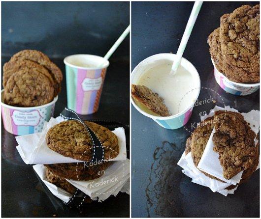Goûter cookies US ultra gourmand chocolat caramel et café