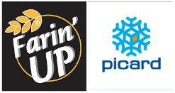 Logo partenariat farin up et picard