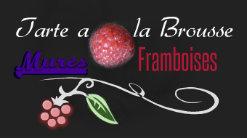 Logo tarte à la brousse, mûres et framboises