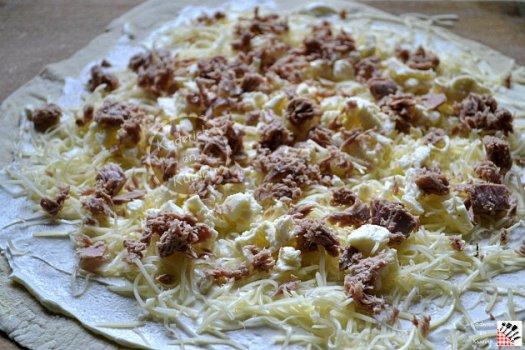 Préparation pizza thon de la marque saupiquet à la plancha