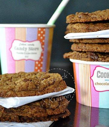 Recette cookies US ultra chocolat et caramel beurre salé