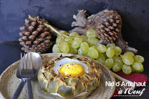 Recette nid d'artichaut camus à l'œuf pour Prince de Bretagne