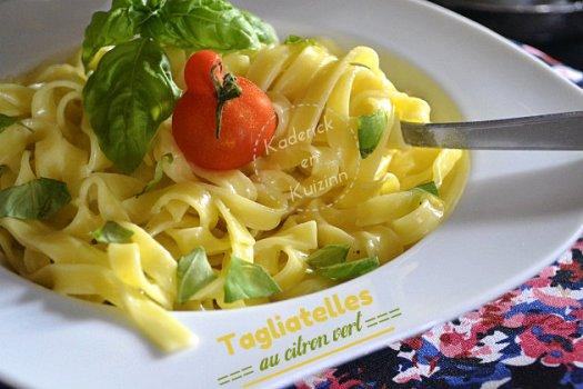 Recette tagliatelles fraîches au citron vert de Jamie Oliver