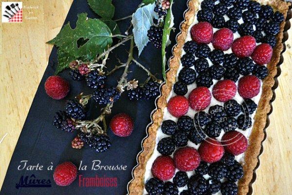 Recette tarte brousse vanillée, mûres et framboises