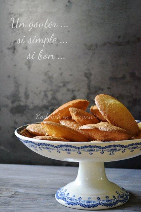 Dégustation madeleines à la fleur d'oranger recette pour les enfants