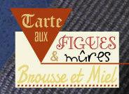 Logo recette de la tarte aux figues et mûres à la brousse et miel