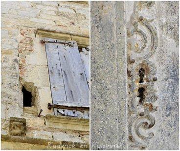 Photo d'un volet et serrure d'une vieille maison dans le village médiéval
