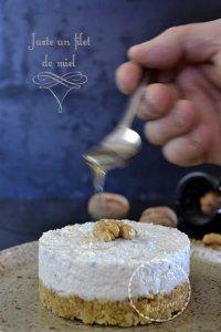 Calendrier jour 2 - Présentation cheesecake au roquefort, noix et miel pour Culino Versions
