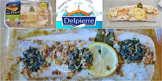 Présentation des produits partenariat Delpierre, cabillaud aux amandes et pistaches