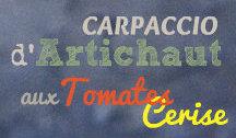 Recette carpaccio d'artichaut et tomates pour Prince de Bretagne en logo