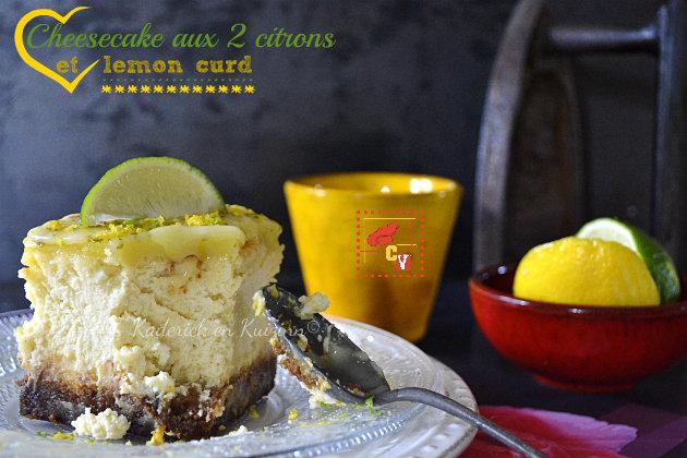 Recette cheesecake aux deux citrons et lemon curd pour Culino Versions