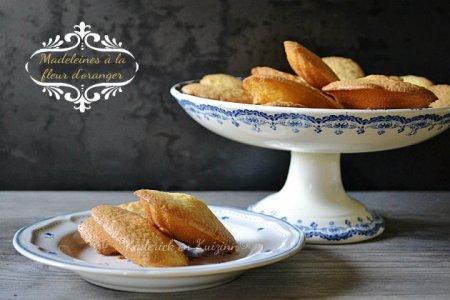 Recette pour enfants avec ces madeleines à la fleur d'oranger