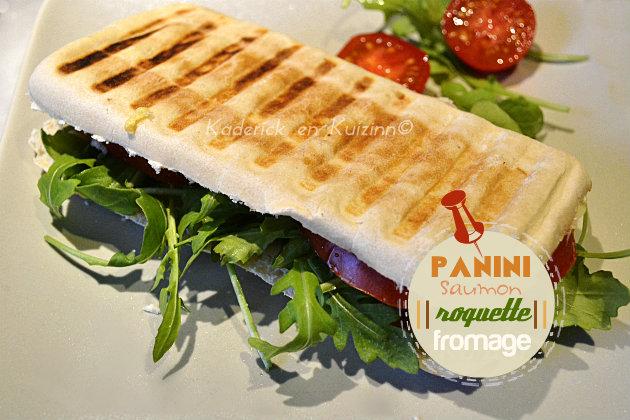 Recette panini au saumon fumé, roquette et fromage