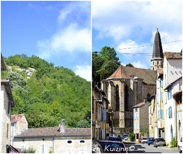 Centre du village médiéval de Caylus dans le Tarn et Garonne