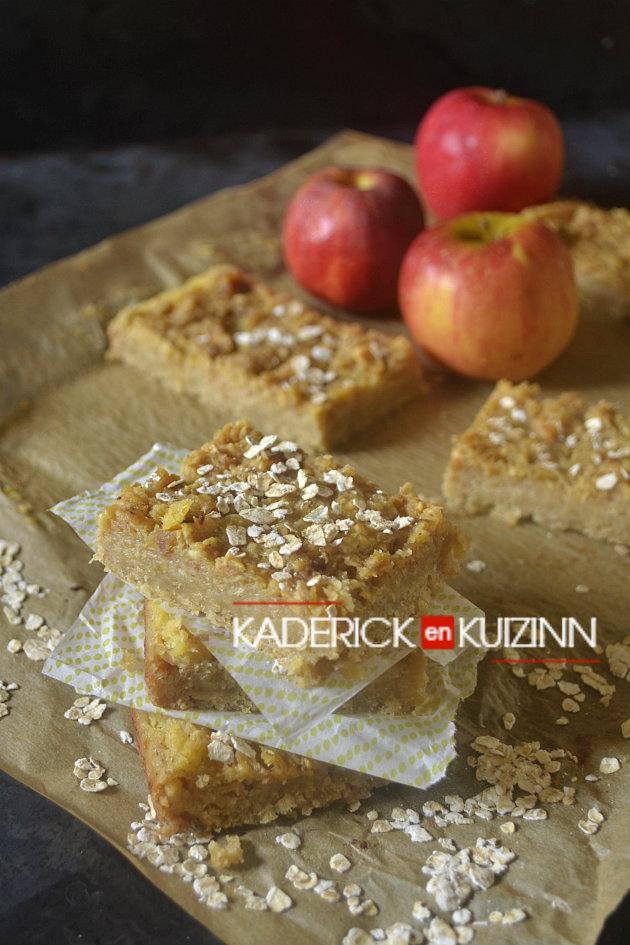 Dégustation carrés ou barres de céréales aux pommes et ananas