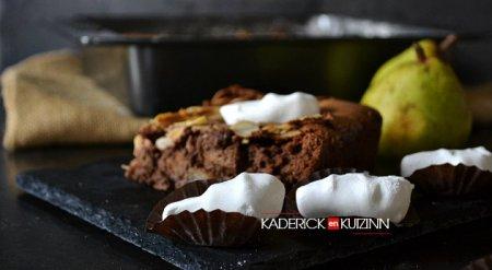 recette du fondant au chocolat et noisetons artisanaux au praliné meringue Chocadom