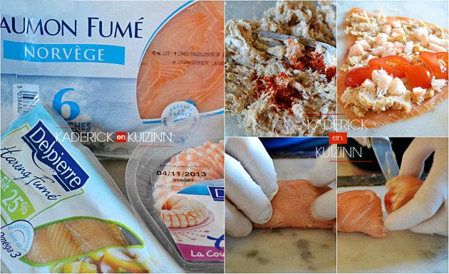 Préparation maki-sushi saumon, harengs, crevettes partenariat Delpierre