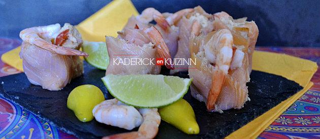 Présentation maki-sushi saumon fumé, harengs, crevettes partenariat Delpierre