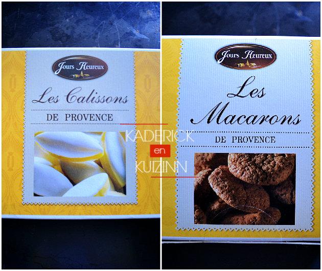 Calissons et macarons de Provence offert par la marque partenariat Jours Heureux