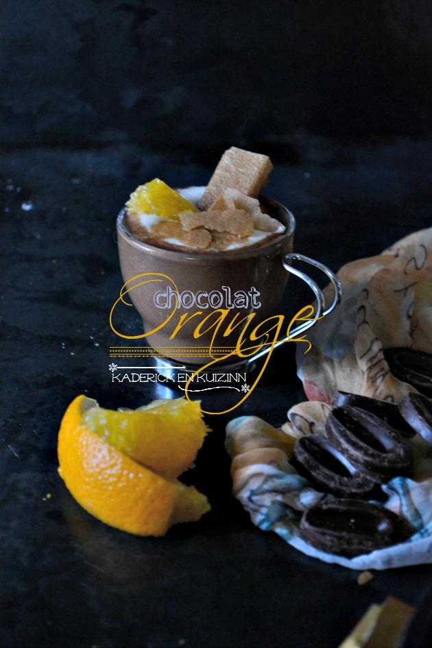 Dégustation mousse aux 2 chocolats et quartiers d'orange peler à vif - recette express