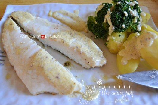 Dégustation turbot cuit à l'unilatérale sur plancha et sauce moutarde au champagne - recette fêtes et noël