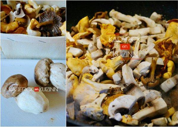 Poêlée de cèpes, girolles et chanterelles pour accompagner le risotto - Recette Italienne